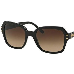 Tory Burch TY7082 Oversized Black Brown Sunglasses